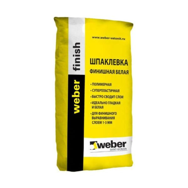 Шпатлёвка ВЕБЕР  ВЕТОНИТ ФИНИШ (финишная, полимерная), 25 кг (1 пал/48 шт) Россия