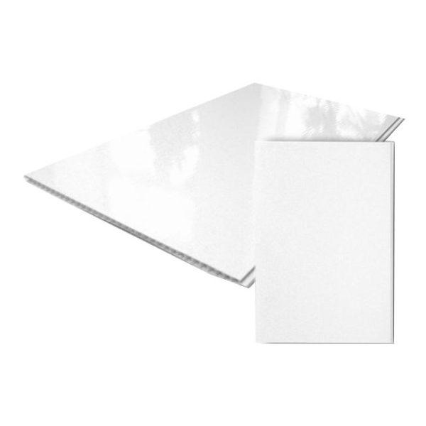 Панель ПВХ белая глянц 3000*250*9 Садко