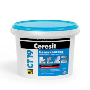 Грунтовка Церезит (Ceresit)  СТ19 бетонконтакт,  5кг  МОРОЗ (1 пал/72 шт)
