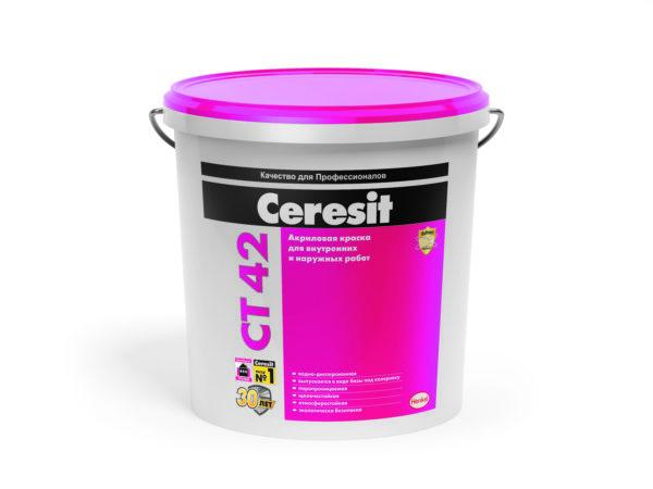 Краска  водно-дисперсионная Церезит (Ceresit) CT 42 (база), 15 л/22,2 кг.