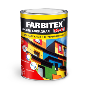 Эмаль алкидная ПФ-115 FARBITEX ярко-зеленый  1,9кг