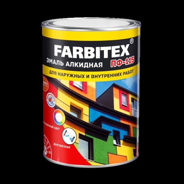 Эмаль алкидная ПФ-115 FARBITEX черная 10кг