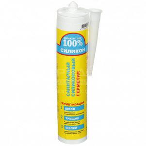 Герметик Ремонт на 100% силикон прозрачный санитарный 260мл 24шт/уп