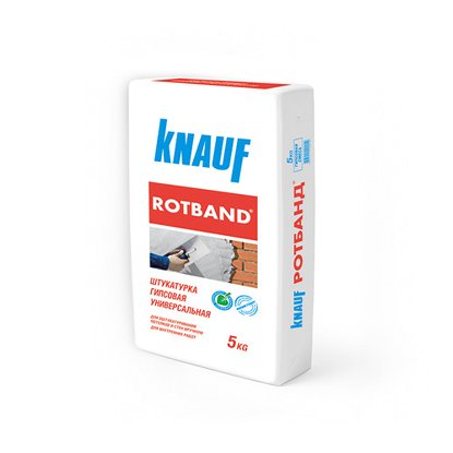 Штукатурка КНАУФ Ротбанд (Knauf Rotband) гипсовая, 5-50 мм (30 кг) (1 пал/40 шт)