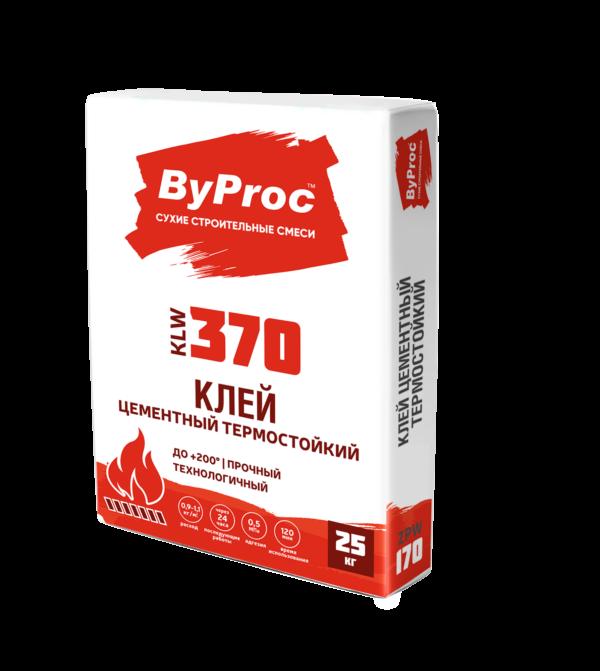 Клей БиПрок (ByProc) KLF-370 для плитки жаростойкий  +200 С, 25 кг (1 пал/48 шт)