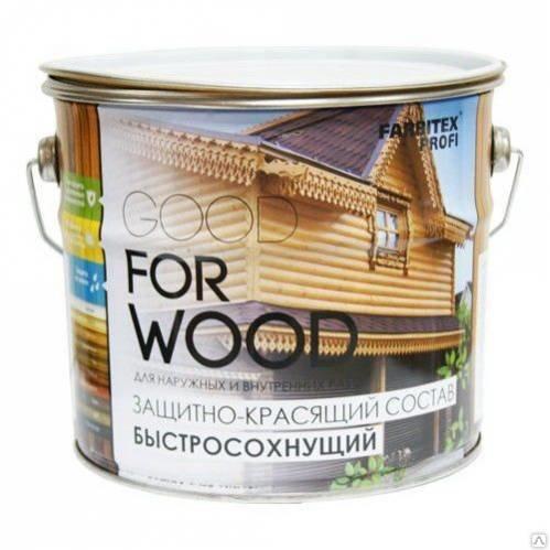 Farbitex Профи Состав защитно-красящий для древесины быстросохнущий Калужница(10л)