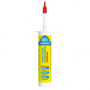 Герметик Ремонт на 100% силикон белый санитарный 260мл 24шт/уп
