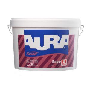 Краска для фасадов Аура Expo акриловая матовая  основа TR(9 л)