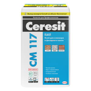 Клей Церезит (Ceresit) СМ117 для плитки универсальный, 25 кг (1 пал/48 шт)