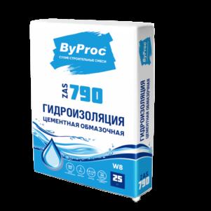 Гидроизоляция БиПрок (ByProc) ZAS - 790   цементная обмазочная, 25 кг (1 пал/48 шт)
